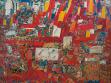 Mircea Vremir, Ceauşescu, Lid, Mír (Ceauşescu, Poporul, Pace), 1982, olej na plátně