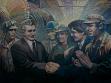 Vintilă Mihăescu, Návštěva na pracovišti (Vizită de lucru), nedatováno, olej na plátně