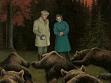 neznámý autor, Černá hora (Dealul Negru), 1986, olej na plátně, repro: Florin Tudor