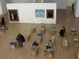 Pohled do výstavy Painting Museum v MNAC v Bukurešti (hala s dobovými publikacemi), repro: MNAC