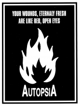 Autopsia poster from Weltuntergang Show: Your wounds